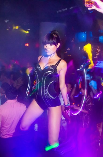 Sandra- a professional go-go dancer at Skin City Entertainment